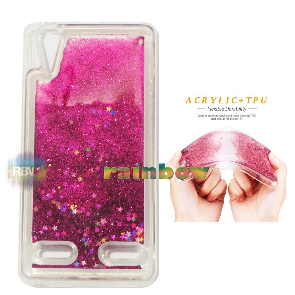 Rainbow Case Water Glitter Lenovo A6000 Pink Tua / Sparkle Case Liquid Lenovo A6000 / Soft Case Aquarium Lenovo A6000 / Case Blink Blink / Glitter Case / Sparkly Case Unik / Bumper Silikon Case / Jelly Case Hp / Casing Lenovo A6000 - Dark Pink