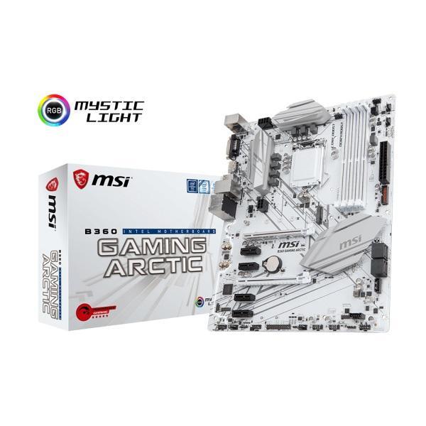 MSI Performance GAMING Intel Coffee Lake B360 LGA 1151 DDR4 Onboard Graphics CFX ATX Motherboard - B360 GAMING ARCTIC