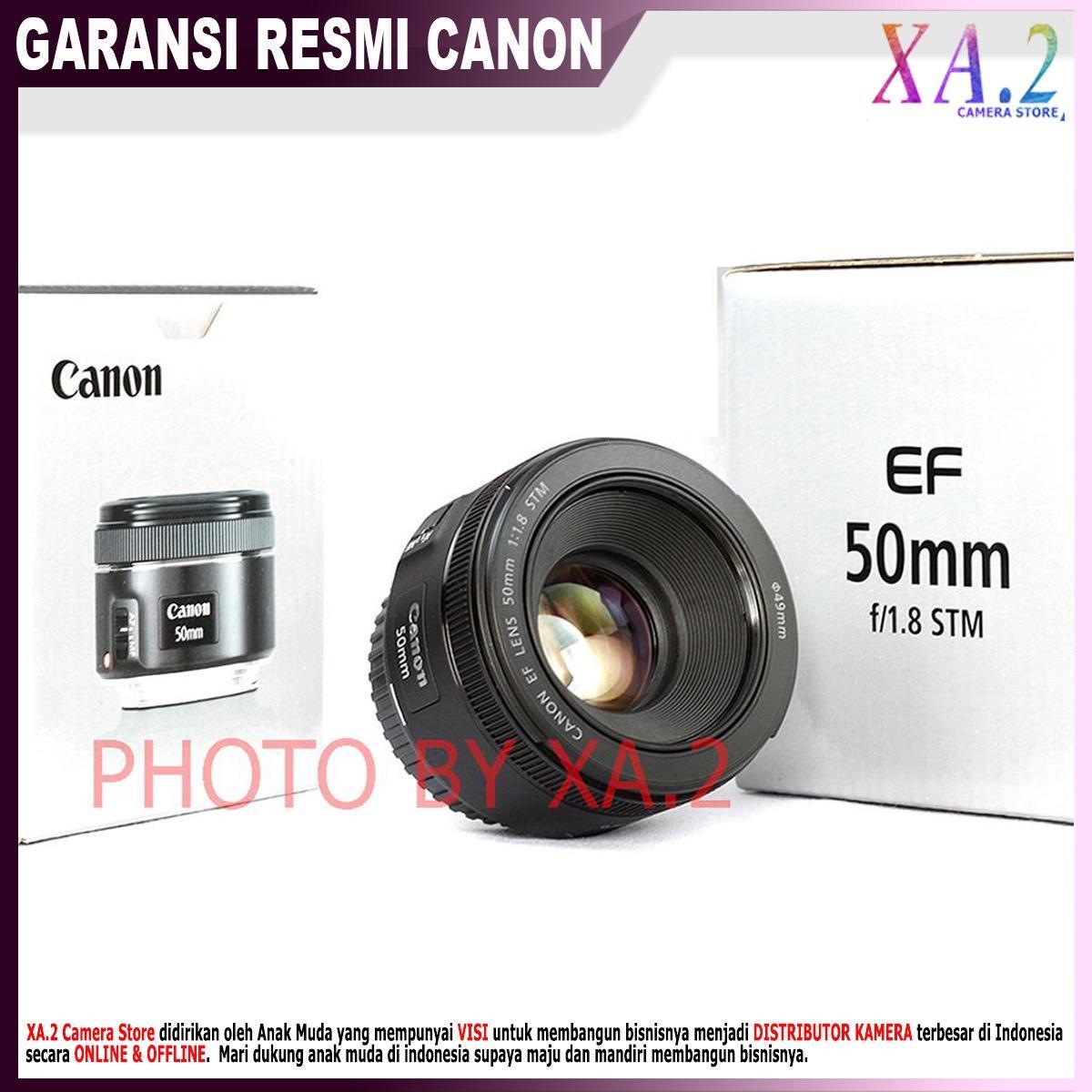LENSA FIX CANON EF 50MM F/1.8 STM - GARANSI RESMI 1 TAHUN