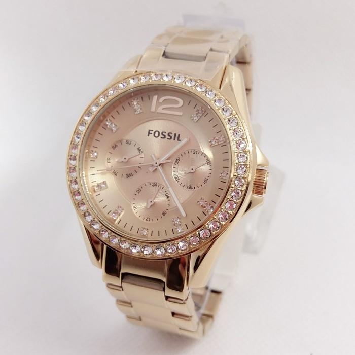 PROMO TERBATAS!!! Jam tangan wanita fossil original rosegold Terbaru Murah