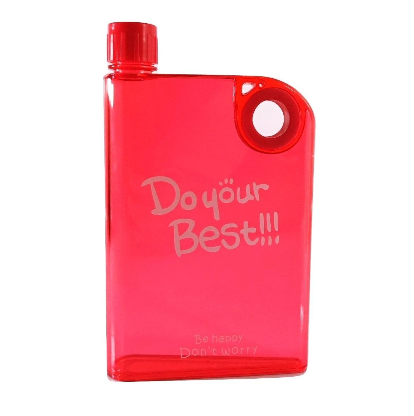 Jual Botol Minum A5 Slim Do Your Best Memo Bottle Unik 420ml Harga Water Flat
