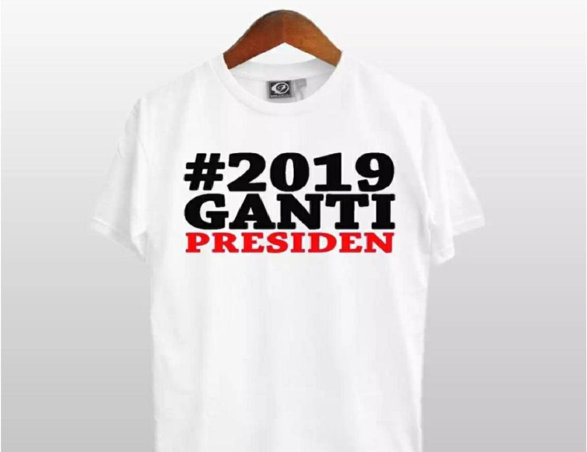 2019 GANTI PRESIDEN M L XL  Kaos Distro Fashion T-Shirt Baju Pakaian Katun Combed 30s 2019 Ganti Presiden Kekinian Atasan Pria Star Wars