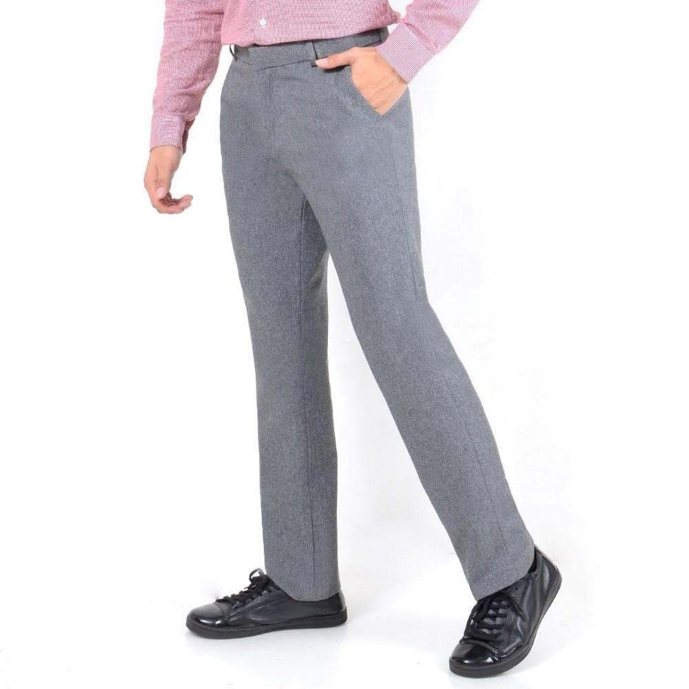 Nusantara Jeans - Celana Bahan Formal Kantoran Pria Katun Berkualitas Restleting Kuat Jahitan Rapi Murah Celana Bahan Slim Fit