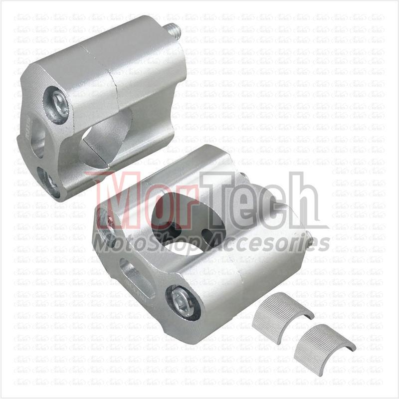 Mortech Raiser - Dudukan - Peninggi Stang - Stir - Setang Multi KLX 150 S (22, 28 mm) Silver