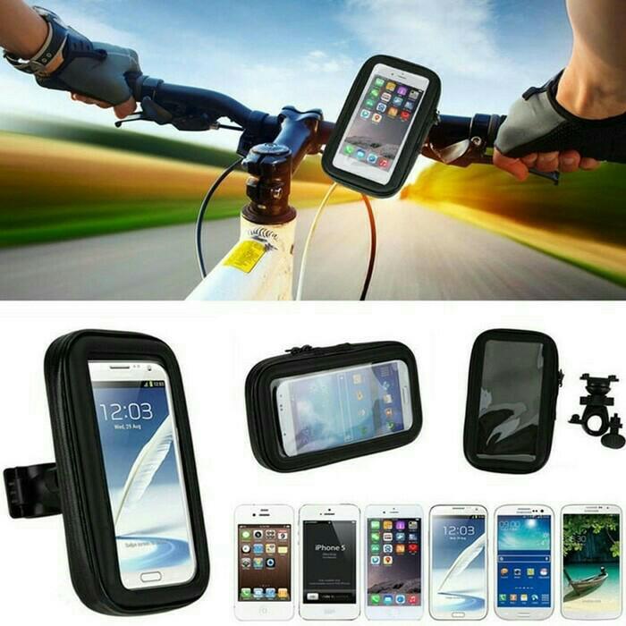 PALING DICARI Holder Bracket HP GPS Waterproof Anti Air Motor Sepeda Ontel Murah PROMO TERLARIS