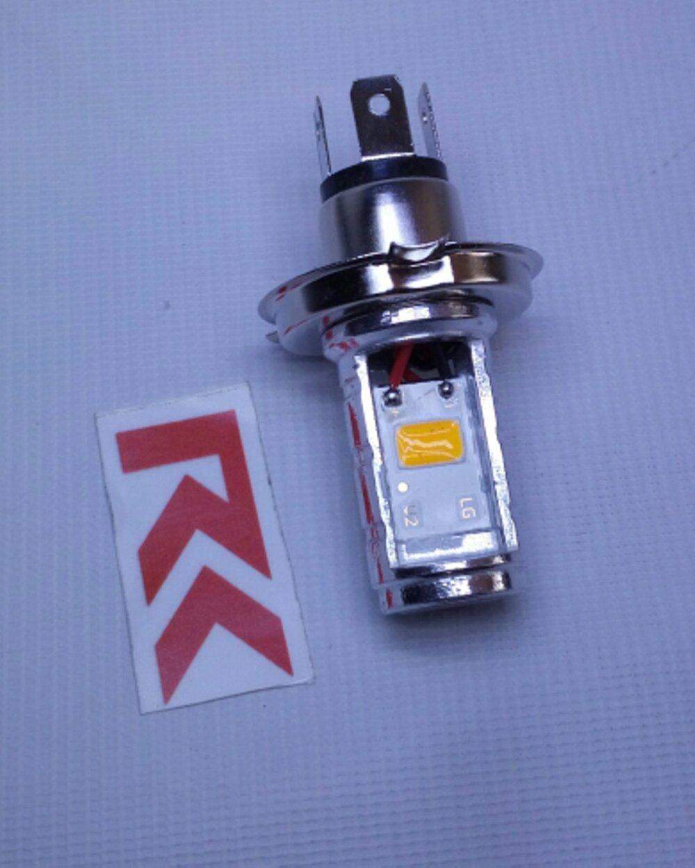 LAMPU MOTOR LED HS1 / H4 WARNA WARMWHITE | LED LAMPU UTAMA MOTOR KUNING HI/