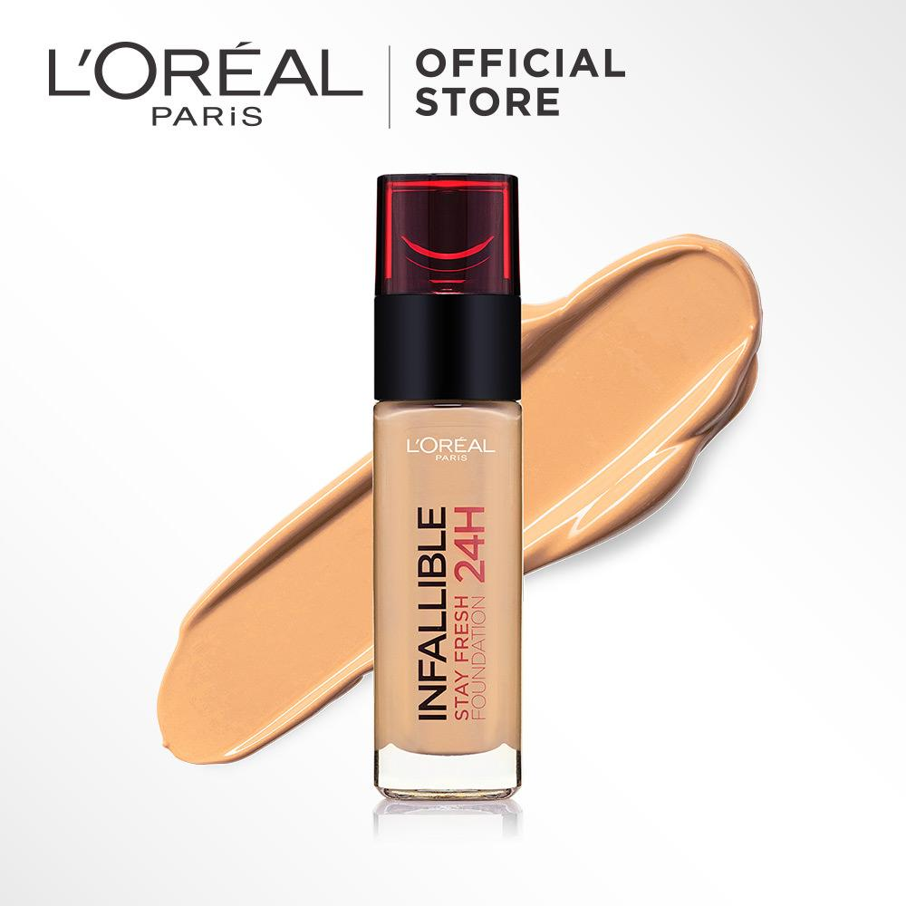 L'Oreal Paris Infallible 24h Stay Fresh Liquid Foundation - 220 Sand by L'Oreal Paris Makeup   Loreal Foundation  Cair  Matte For Normal to Oily Skin / Kulit Berminyak Long Lasting Tahan Lama