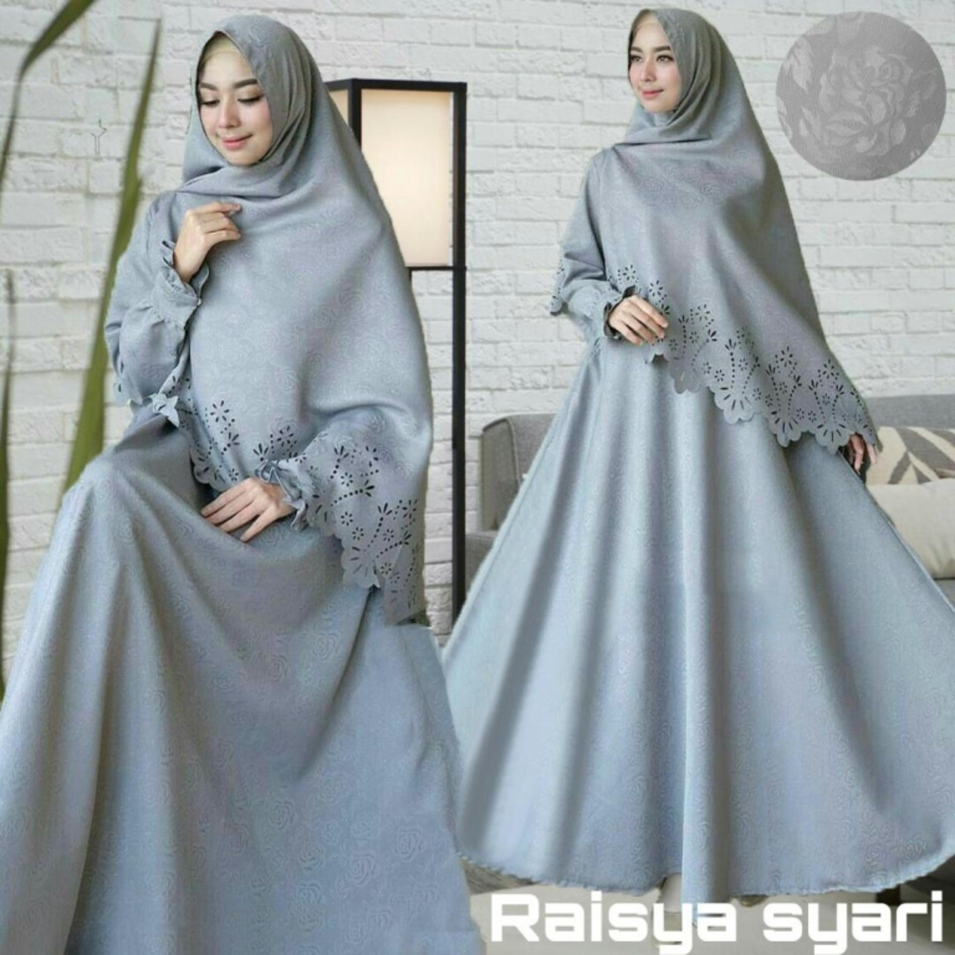 DRESS MUSLIM RAISYA BALOTELI LASER GAMIS 1 SET BERGO GROSIRAN TANAH ABANG