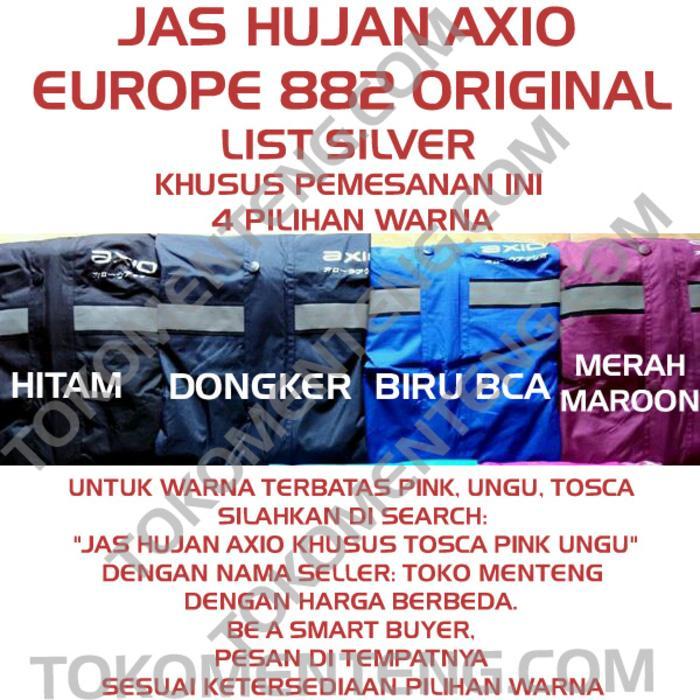 Jas Hujan Axio Europe Original Scotlight Silver MURAH GROSIR