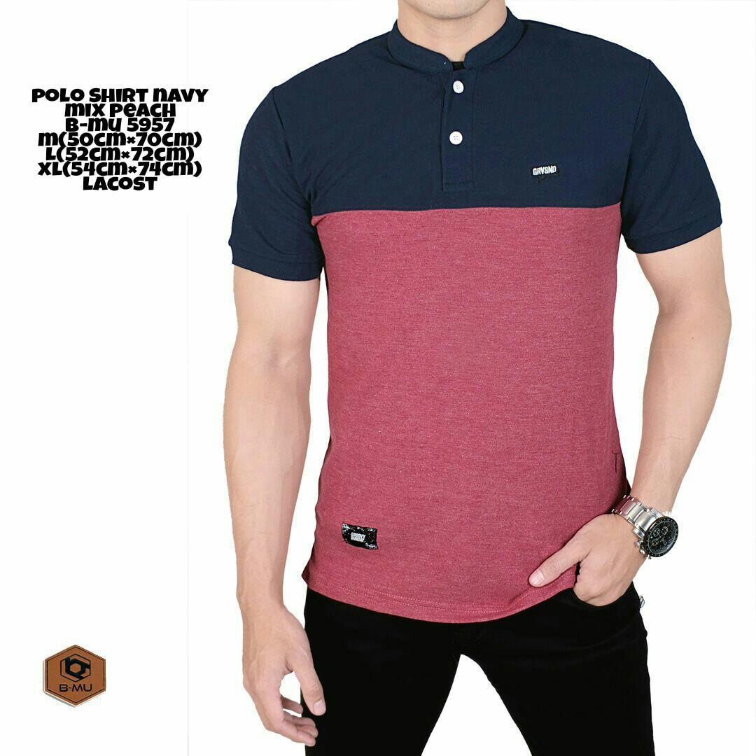 the most - Poloshirt sanghai Navy Mix peach Koas koko grandad baju pria murah kaos polo shirt cowok distro Lazada Birthday