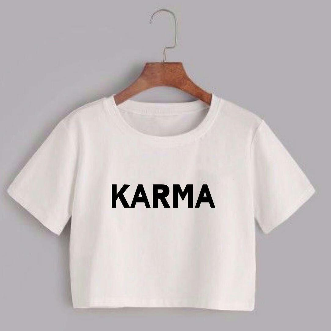 Labelledesign KARMA CROP TEE TSHIRT TUMBLER TEE 3 WARNA No.376