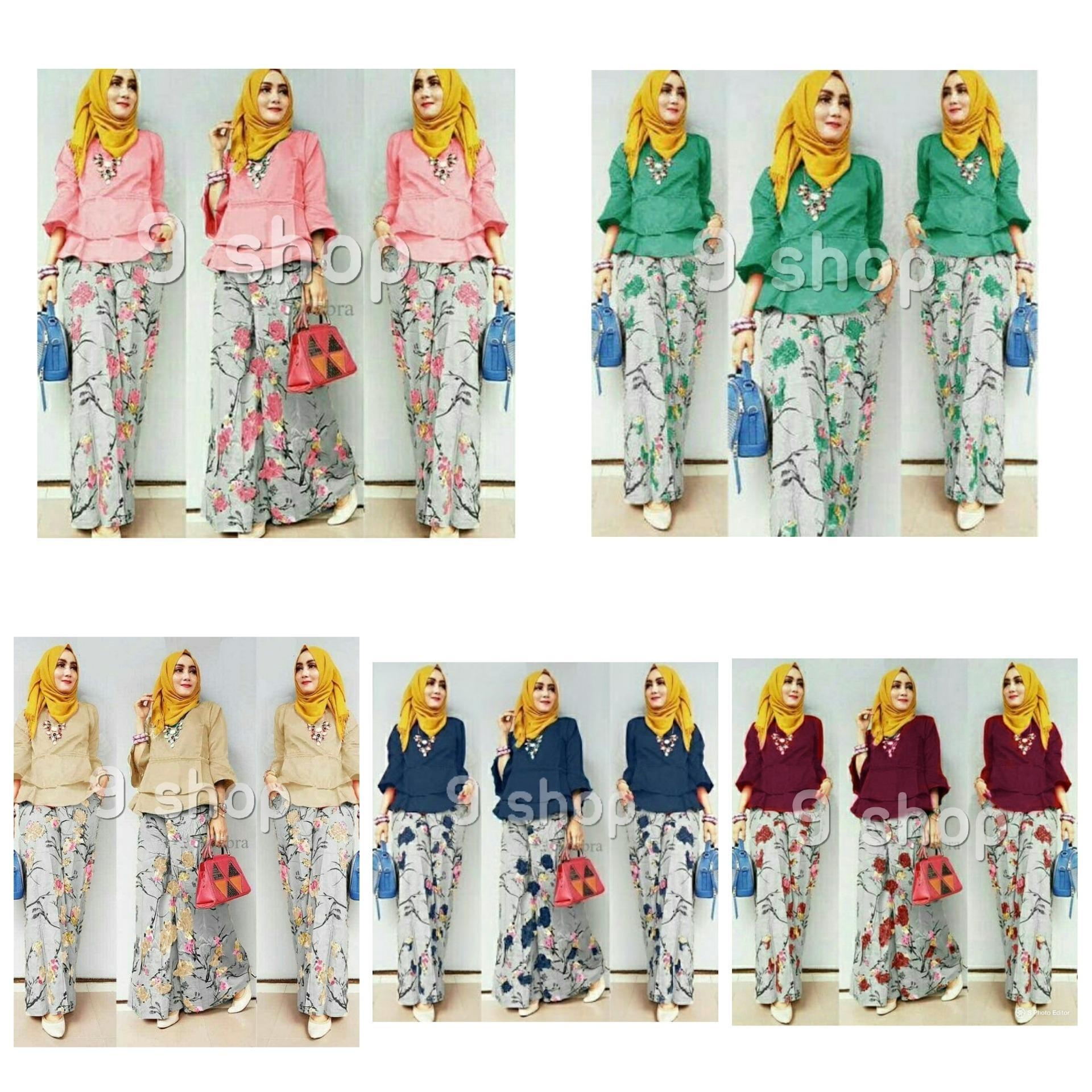 9 Shop Setelan Baju dan Celana Kulot Wanita LIA ( Tanpa Jilbab )  Setelan Muslimah  Stelan Kulot Muslim  Baju Muslimah  Setelan Wanita  Stelan Baju Murah  Baju Muslim  Celana Kulot Muslimah  Kulot Muslim