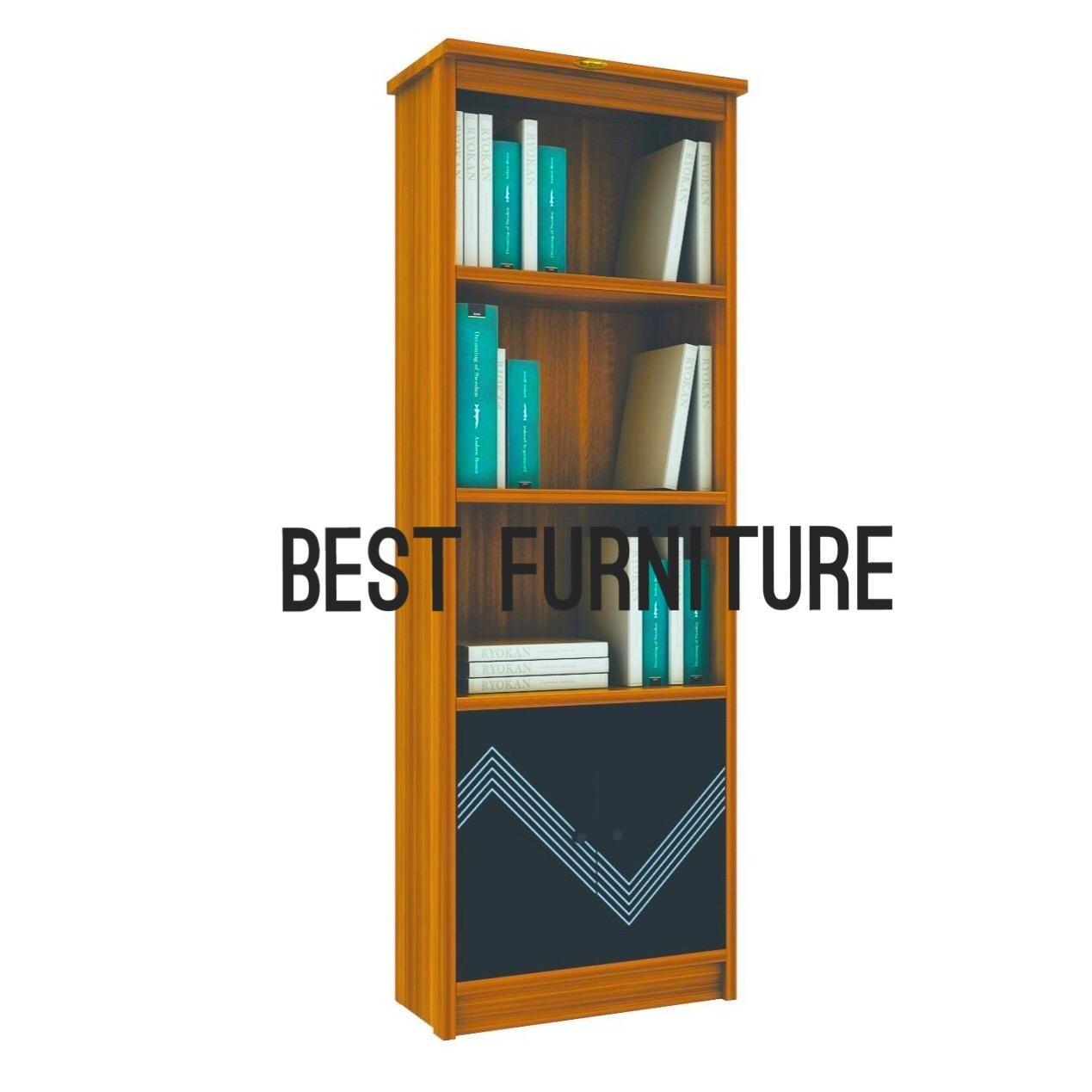 Best RC RB03 Lemari Rak Buku Pajangan Lemari Kerja Multifungsi uk 62x180