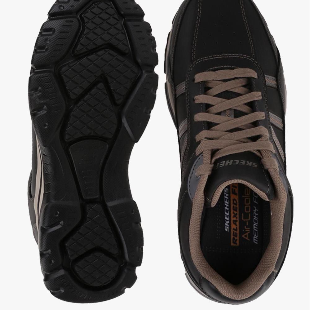 ... Skecher Relaxed Fit  Rovato - Texon Men s Leisure Shoes - Hitam ... b58077f87d