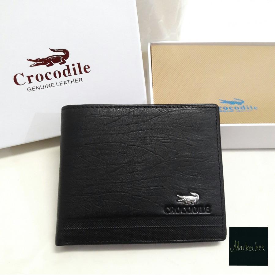 LARIS Dompet Kulit ASLI Pria Crocodile C1201-12 Pendek Lipat Tidur Impor Import Branded Original
