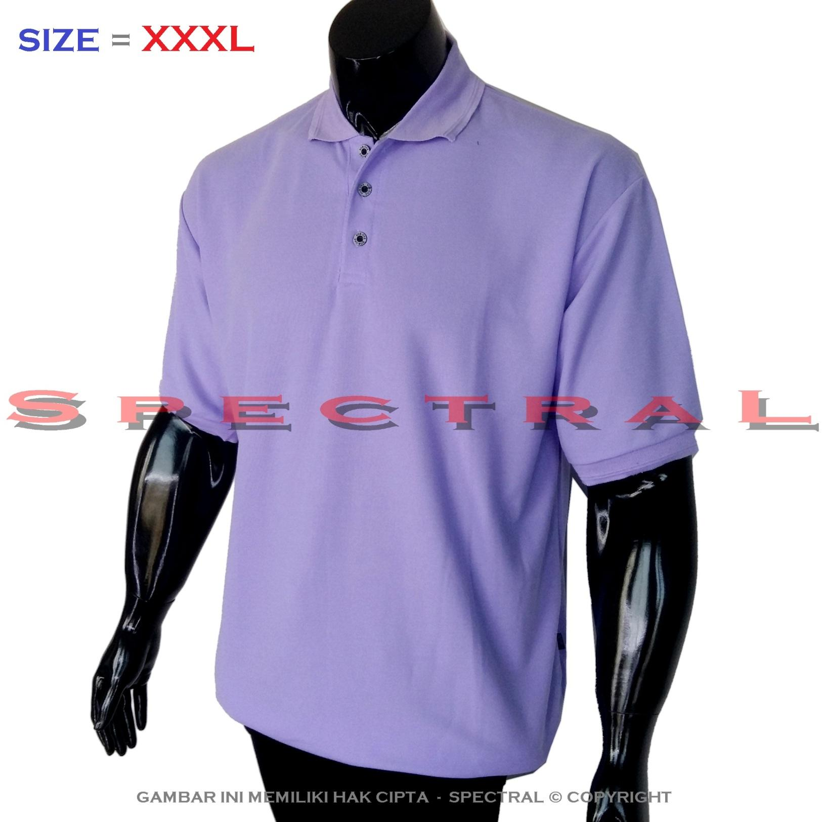 Spectral – Polo Shirt XXXL Ungu Lacos Kaos Distro Jumbo T-Shirt Fashion Ukuran Besar Polos Celana Olahraga Atasan Pria Wanita Dewasa Bapak Orang Tua Muda Terbaru Gemuk Gendut Sport Casual Bagus Keren Baju Cowo Cewe Pakaian 3L