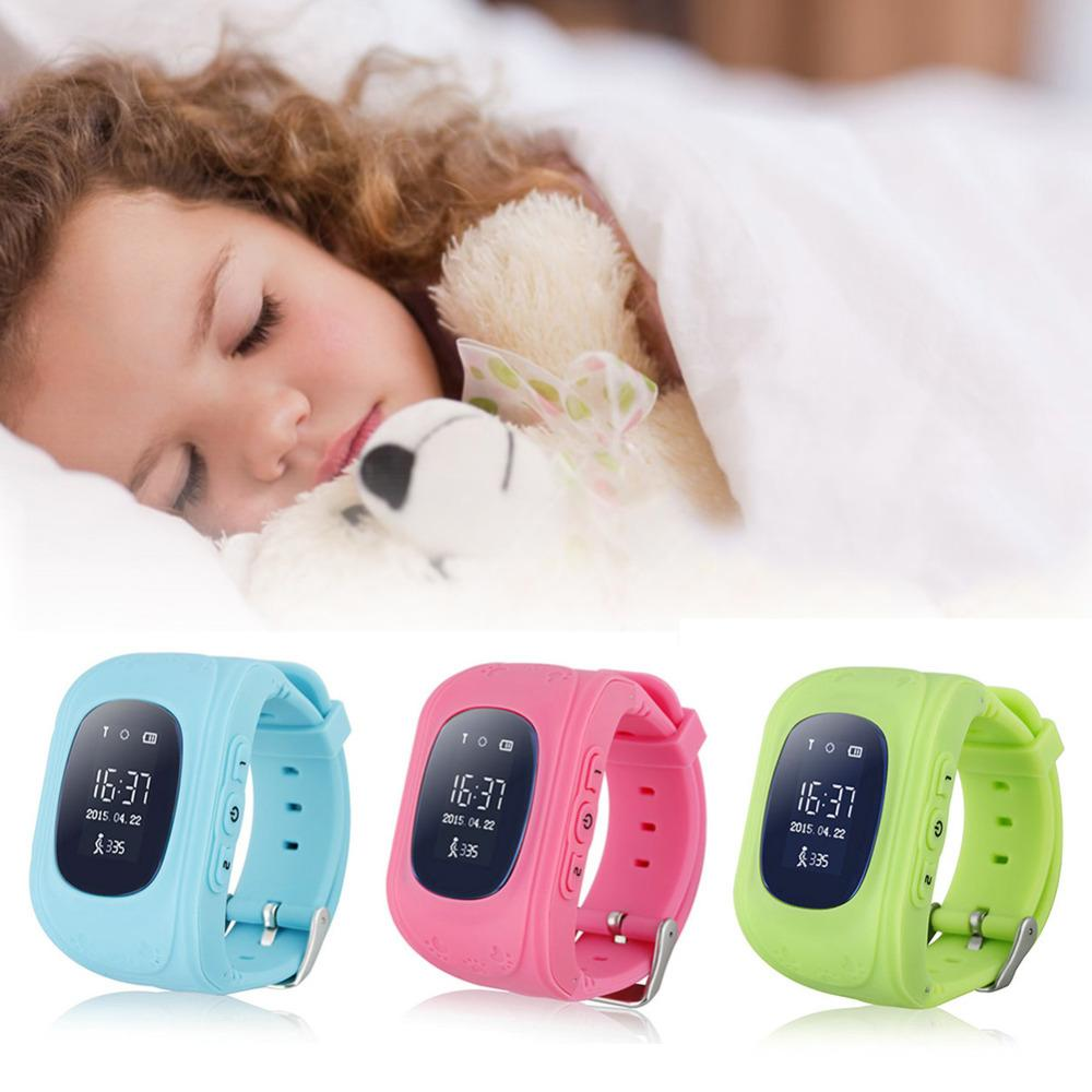 Jam Tangan Pelacak Anak GPS Watch Children Smart Tracker IOS Android