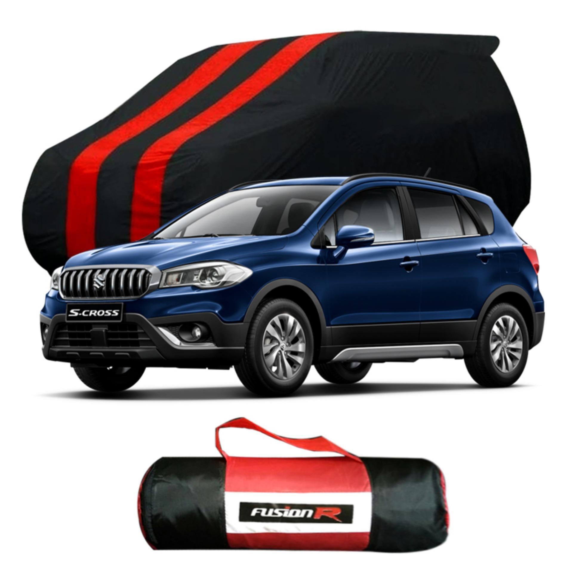 Vanguard Body Cover Penutup Mobil SCROSS SX4 Merah Hitam Waterproof / Sarung Mobil SCROSS Premium