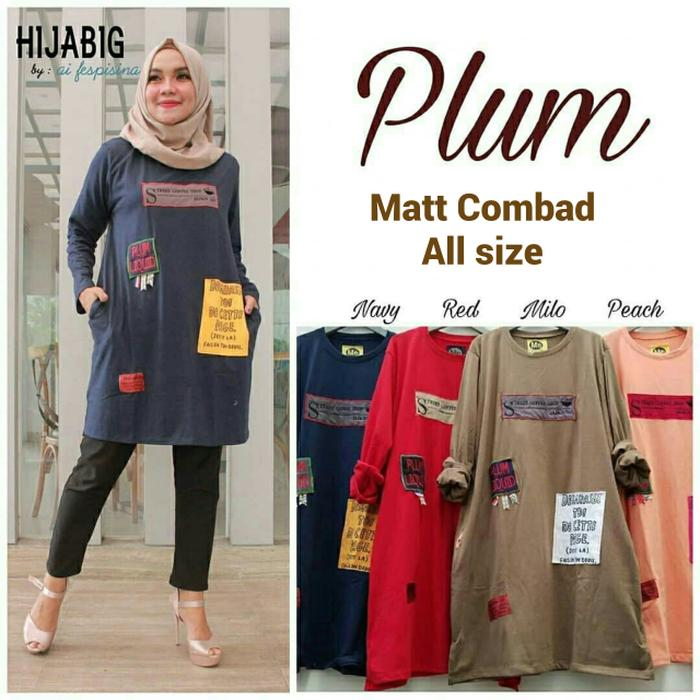 Atasan muslim wanita / Blouse murah / Jual Baju wanita : Plum Tunik