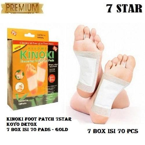 Kinoki Foot Patch Koyo Detox Ampuh Buang Racun 7 Box Isi 70 Pads - Gold