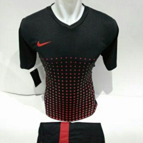Baju Kaos Olahraga Jersey Setelan Bola Futsal Voli Nike 16 Hitam Merah