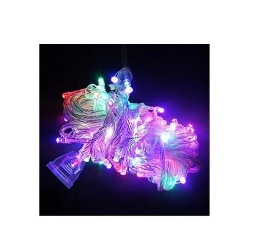 Lampu Hias Warna Warni Lampu Natal Dekorasi LED Tumblr 10m + Colokan Sambungan - RGB/Warna Warni