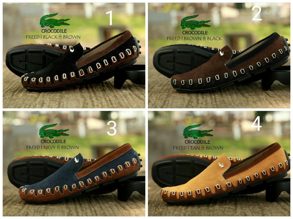 Promo sepatu crocodile lacoste kulit suede (sepatu casual slop crocodile diskon promo sepatu pria best seller termurah) Diskon