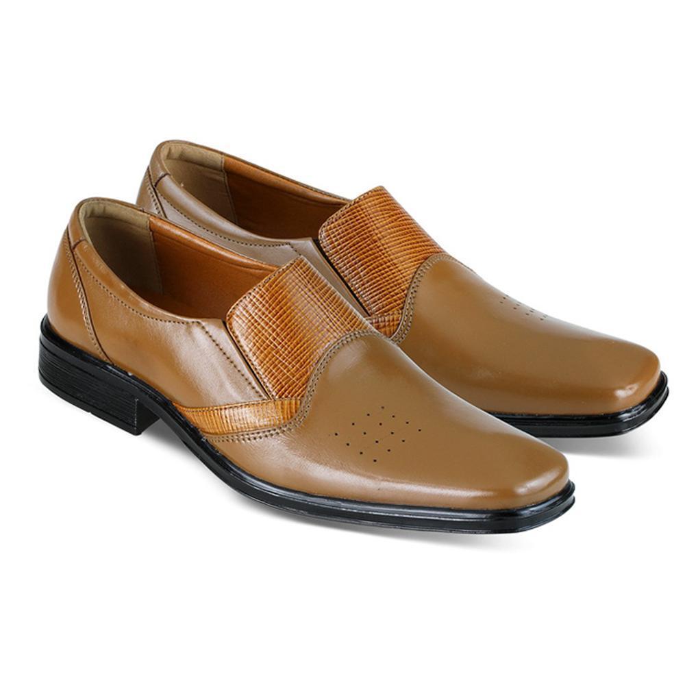 Promo sepatu kulit pria pansus pria pantofel kulit jk collection JDA 6514 Fashion