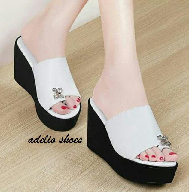 Adelioshoes - Sandal wedges   wedges murah   Wedges laris   Diamond rose  ADL1204 00f844f0b5