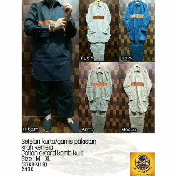 Setelan baju celana Koko kurta Gamis Pakistan Al amwa Muslim