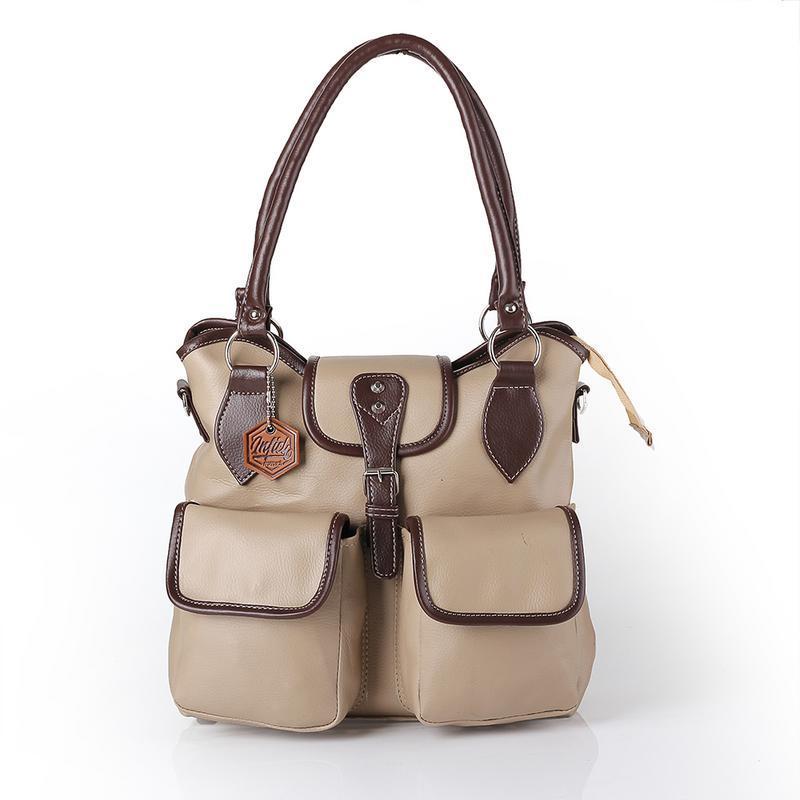 Inficlo SSD 870 Tas Wanita Handbag - bahan virotex - 30x26x10 - Murah & berkualitas (abu)