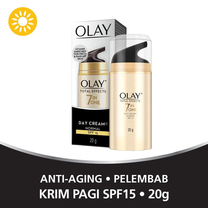 Olay Anti Aging - Pelembab Total Effects Day Cream Normal SPF 15 7 in 1 - 20gr