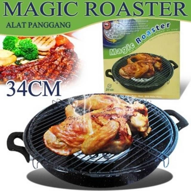MAGIC ROASTER MASPION ORIGINAL ALAT PANGGANG / GRILL SATE AYAM BAKAR ROTI BAKAR 1.100gr