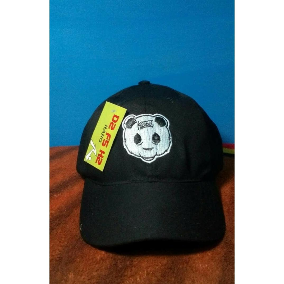 Topi Baseball Bordir Panda Kickout