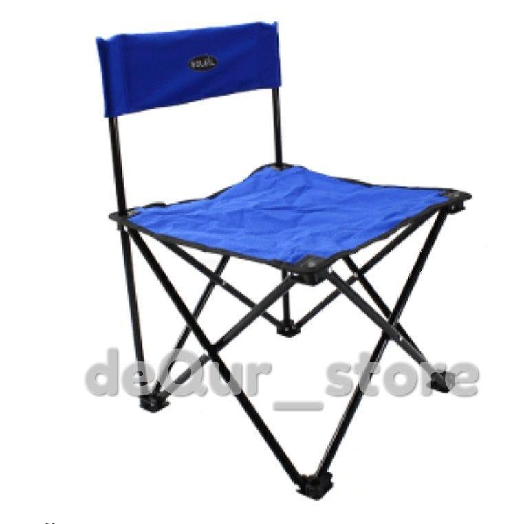 Kursi lipat outdoor portable untuk camping dan mancing warna biru