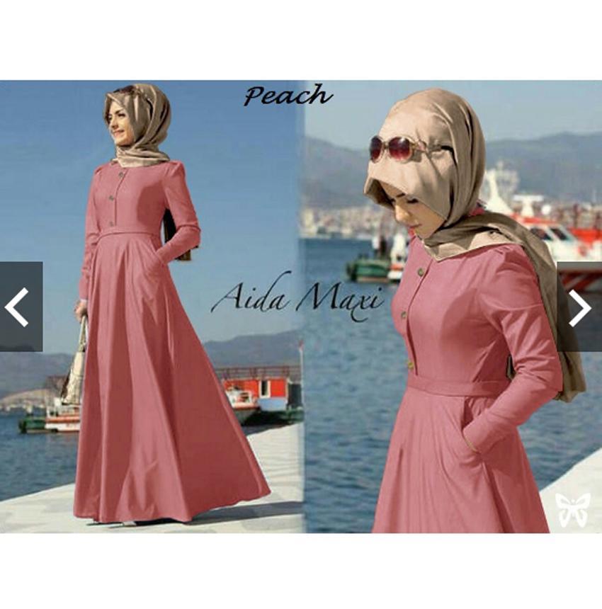 Rp 146.700 TotallyGreatShop Fashion Baju Busana Kondangan Muslimah Muslim Wanita - Gamis Pesta - Gamis Formal ...