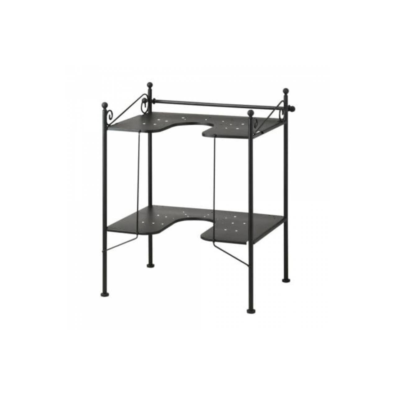 IKEA RONNSKAR Rak meja wastafel, hitam
