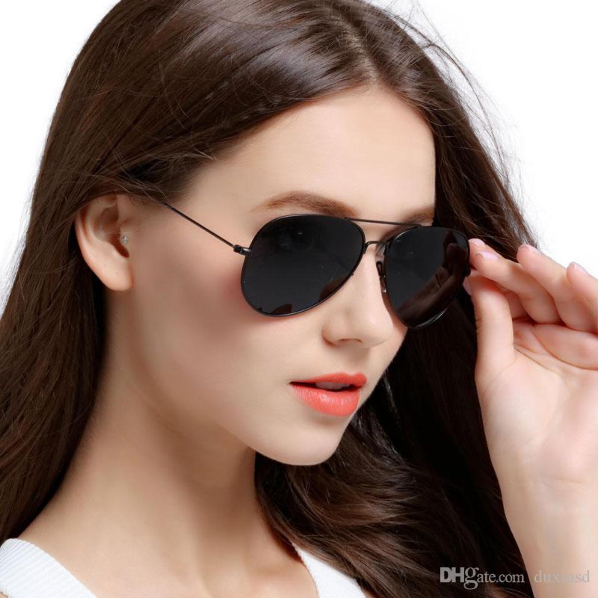 Black Aviator Sunglasses 0200 - Kacamata Hitam Pria dan Wanita - TERLARIS - TERPOPULER