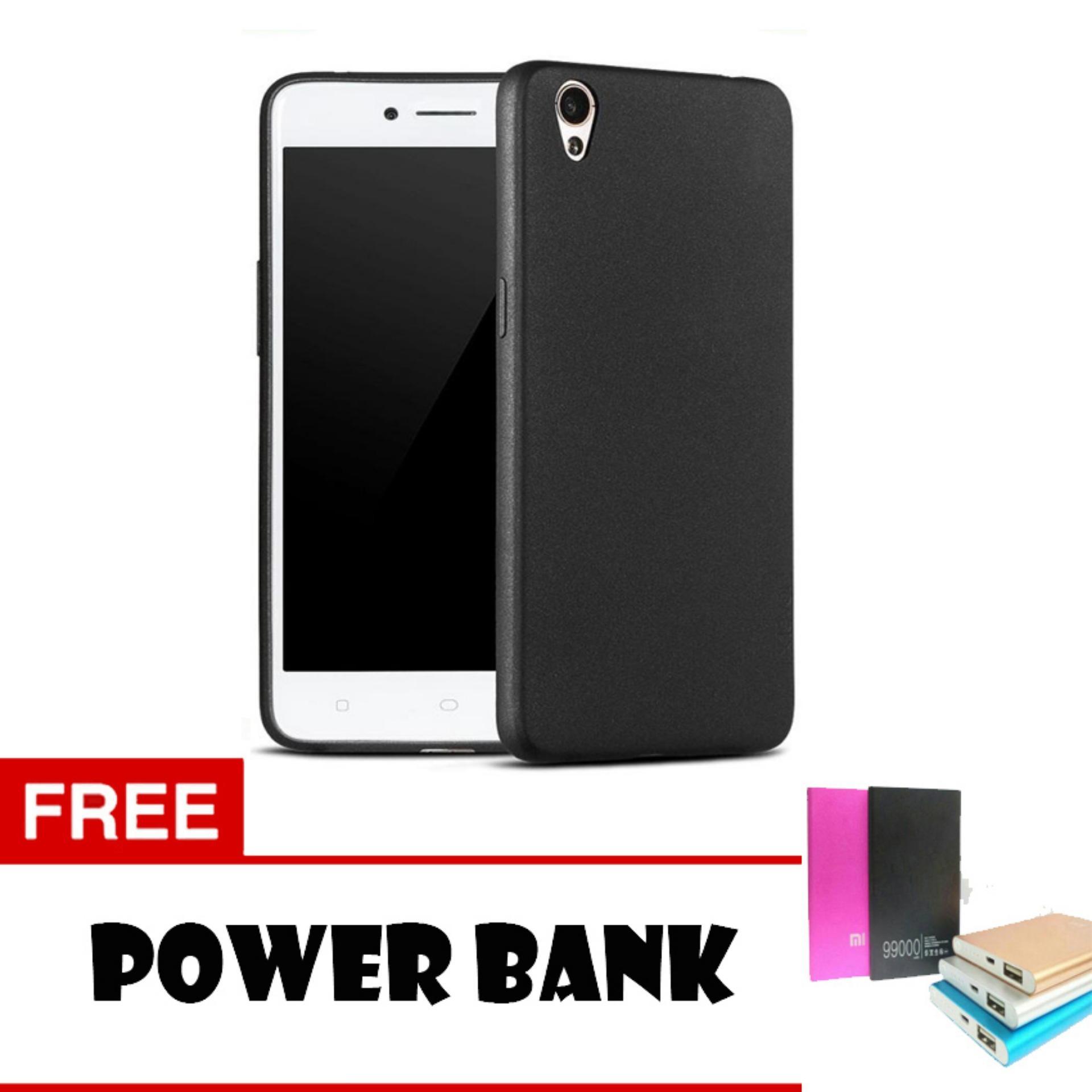 Case Slim Black Matte Oppo R9 / F1 Plus Baby Skin Softcase Ultra Thin Jelly Silikon