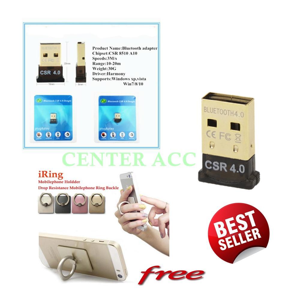 USB Bluetooth Dongle 4.0 CSR Mini Kecil versi 4.0 Free Ring HP Warna Random