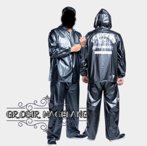 TRIBAL Jas Hujan Khusus Hitam Jaket Celana Awet Lentur Grosir All size