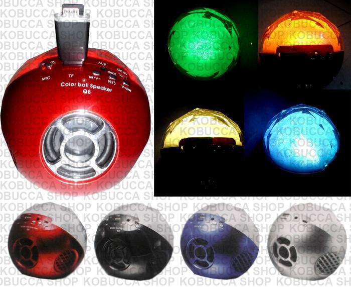 COLOR BALL SPEAKER BLUETOOTH WIRELESS FLASHDISK MAGIC LAMPU LIGHT UNIK