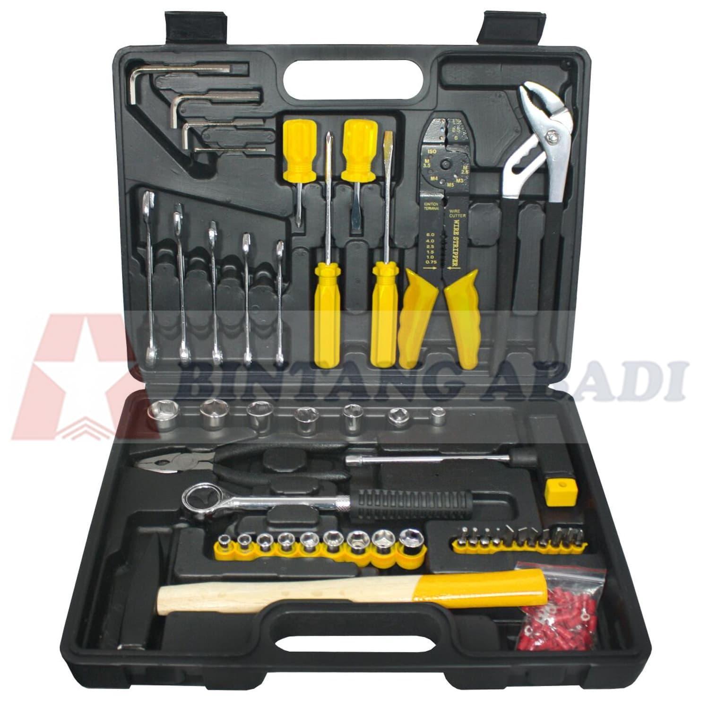 Termurah Jason Tool Kit Set Home Using 100 Pcs + Koper / Perkakas Set 391-023 Harga Grosir