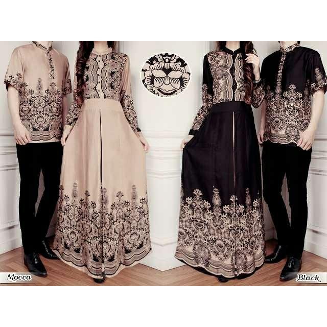 Couple Baju Muslim Couple Elegan Gita Gutawa Batik Harga Sepasang