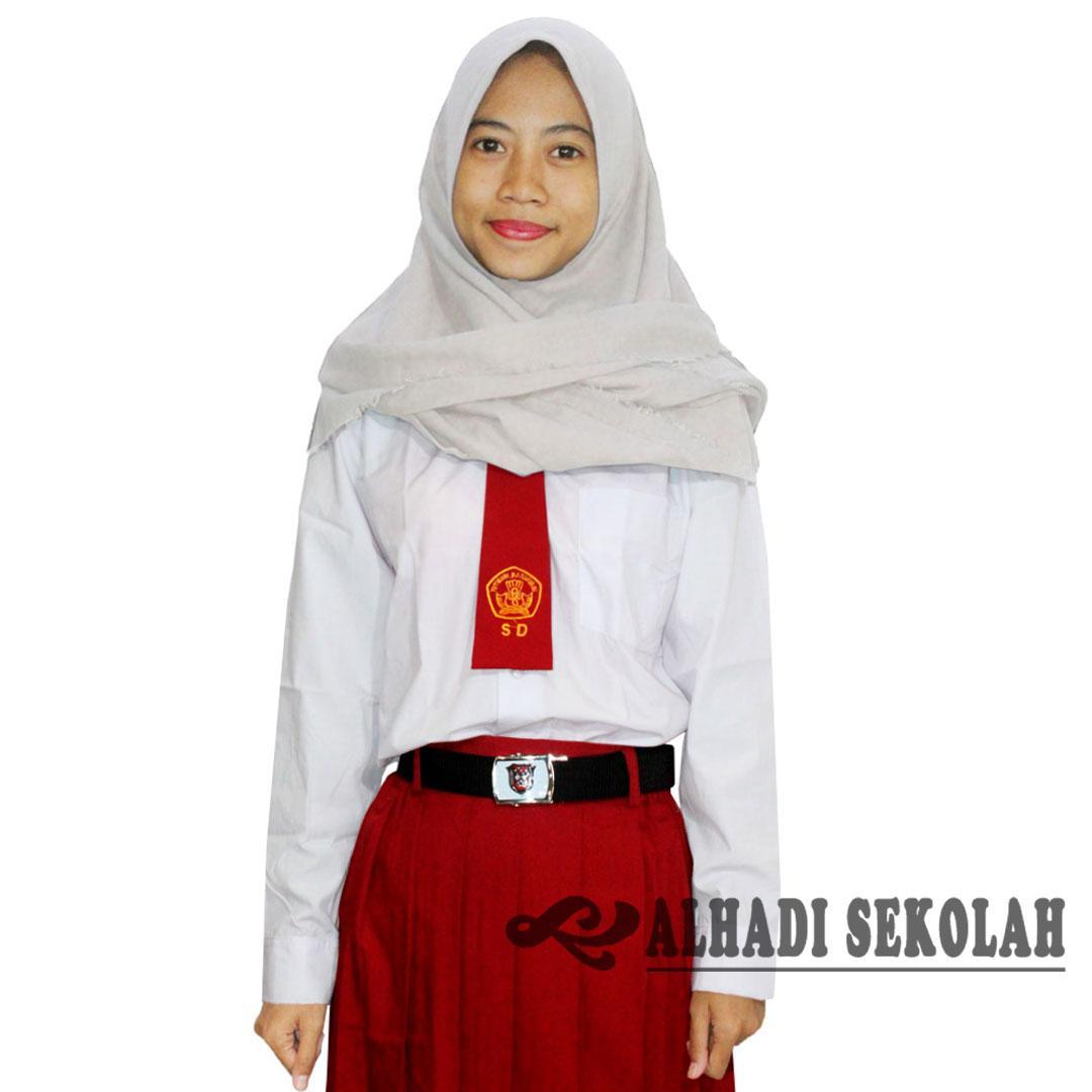 Seragam Sekolah Putih Polos Panjang SD. SMP. SMA. Anak Perempuan. Ukuran 4 s/d 18. (KPS001-01) Batikalhadi