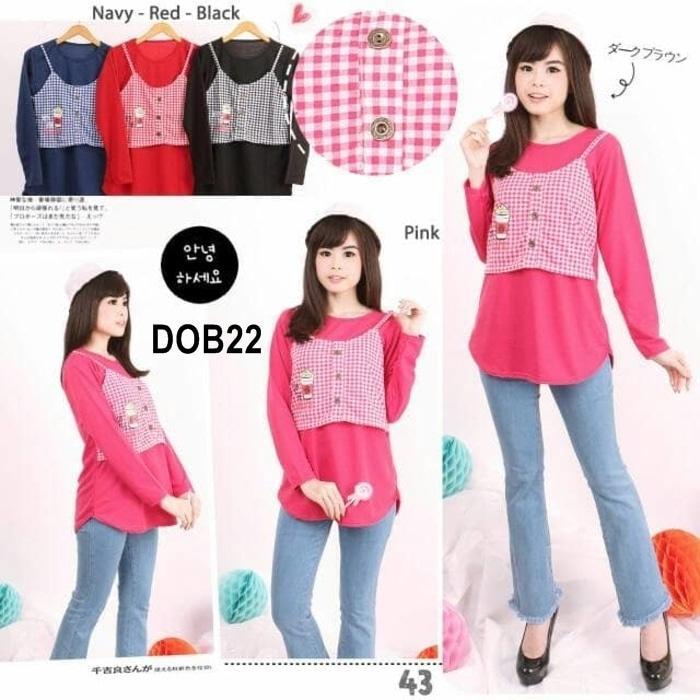 DOB22 Baju Fashion Modern Premium Bahan Import Murah