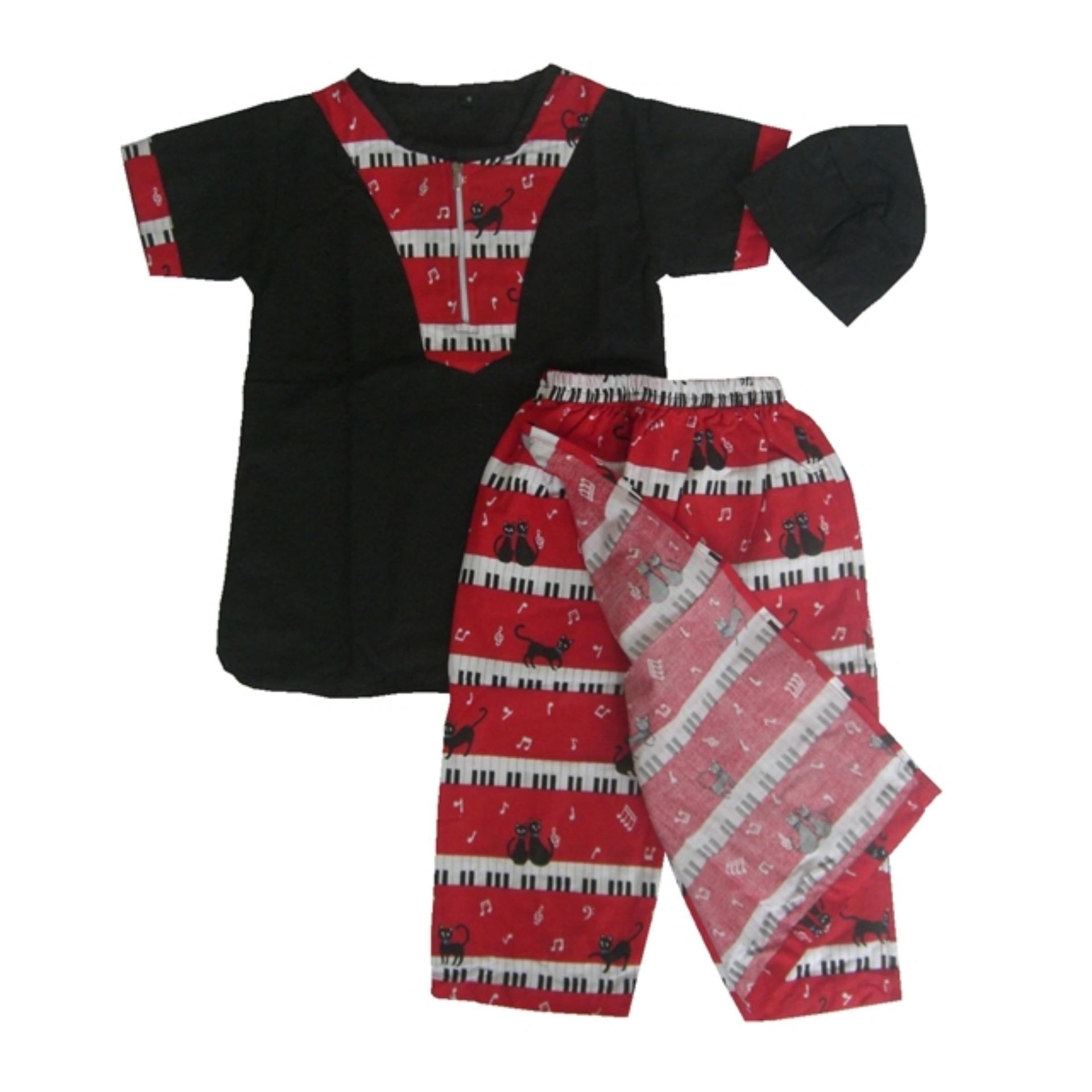 Sarkoci Sarung celana baju koko peci Bayi Anak Laki laki