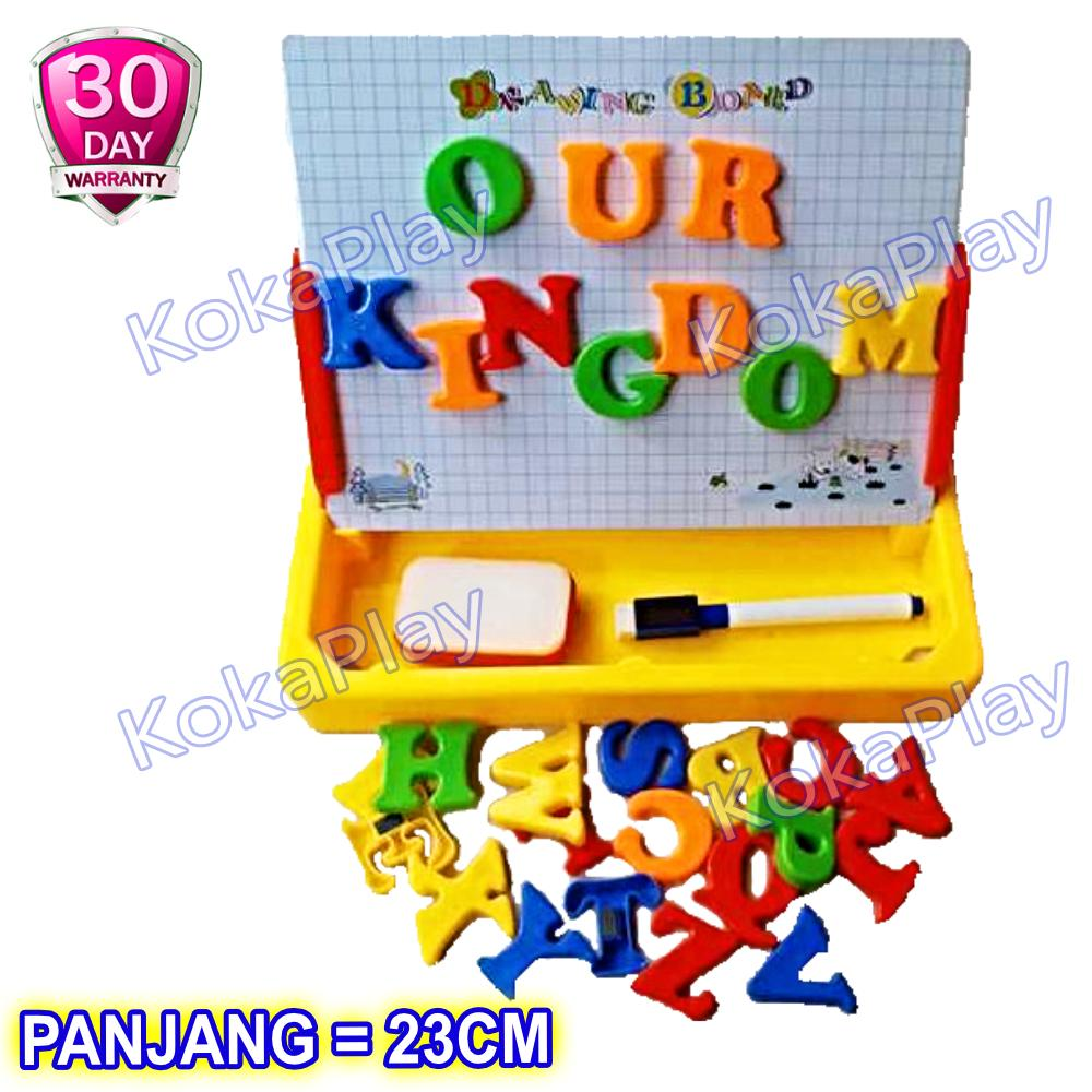 KokaPlay Second Classroom Drawing Board Magnetic Learning Case 2 in 1 Mainan Anak Edukasi Papan Tulis Magnet Huruf A to Z