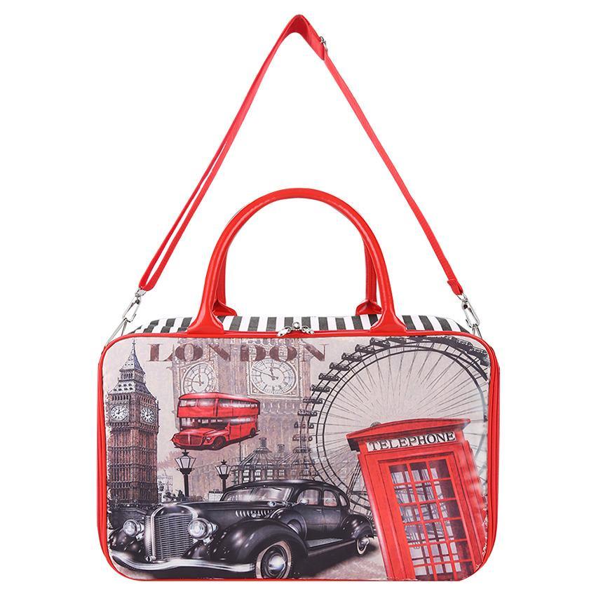 AMT Tas Travel Bag Koper Kanvas Import Premium Jumbo Pria dan Wanita Komplit Aksesoris Paris London