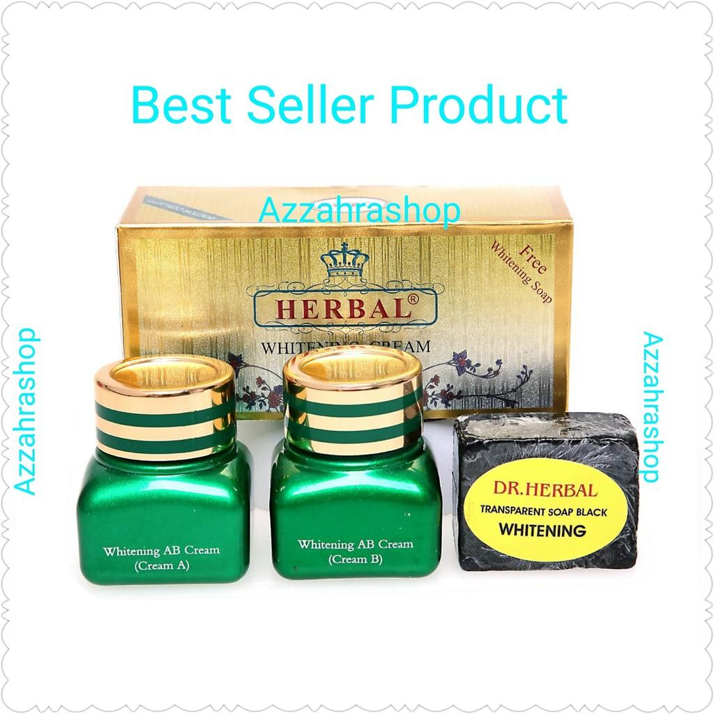 Dr. Herbal Whitening Cream Set Siang- Malam Dan Sabun Sdh Bpom